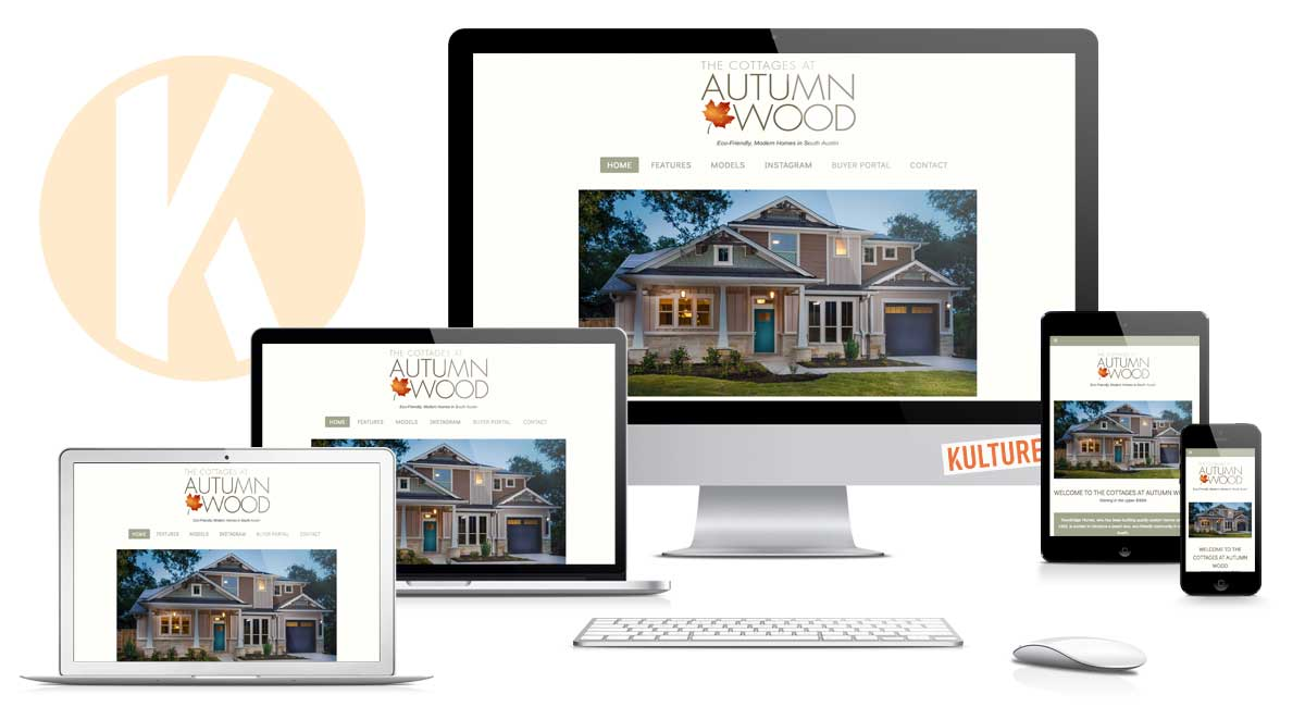 The Cottages at Autumn Wood Website Designed by Kulture Digital in Austin
