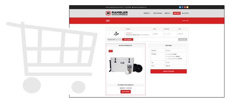 Rambler Wheels eCommerce Integration by Kulture Digital in Austin Texas