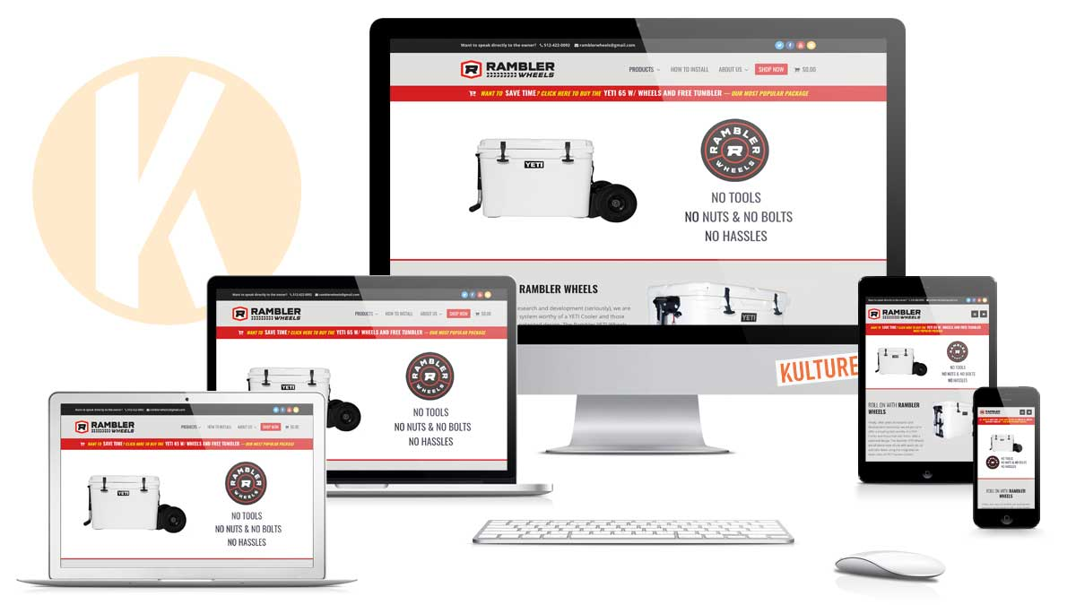 Rambler Wheels Website Designed and Developed by Kulture Digital in Austin