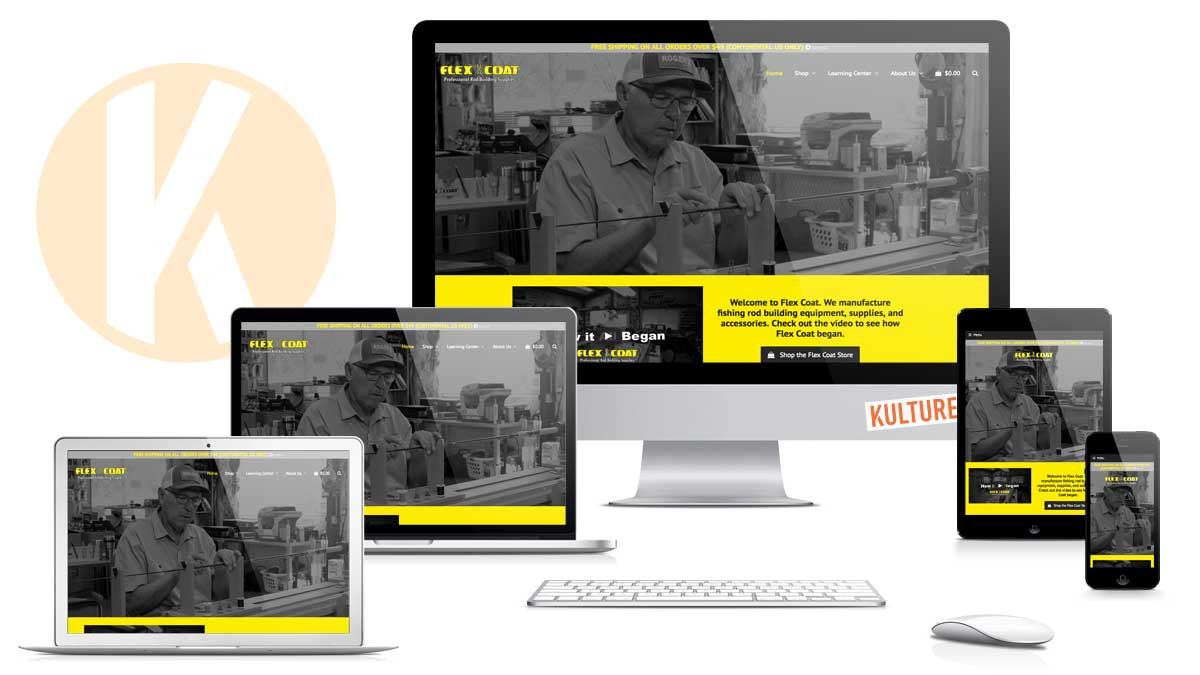 Flex Coat Website Designed and Developed by Kulture Digital in Austin TX