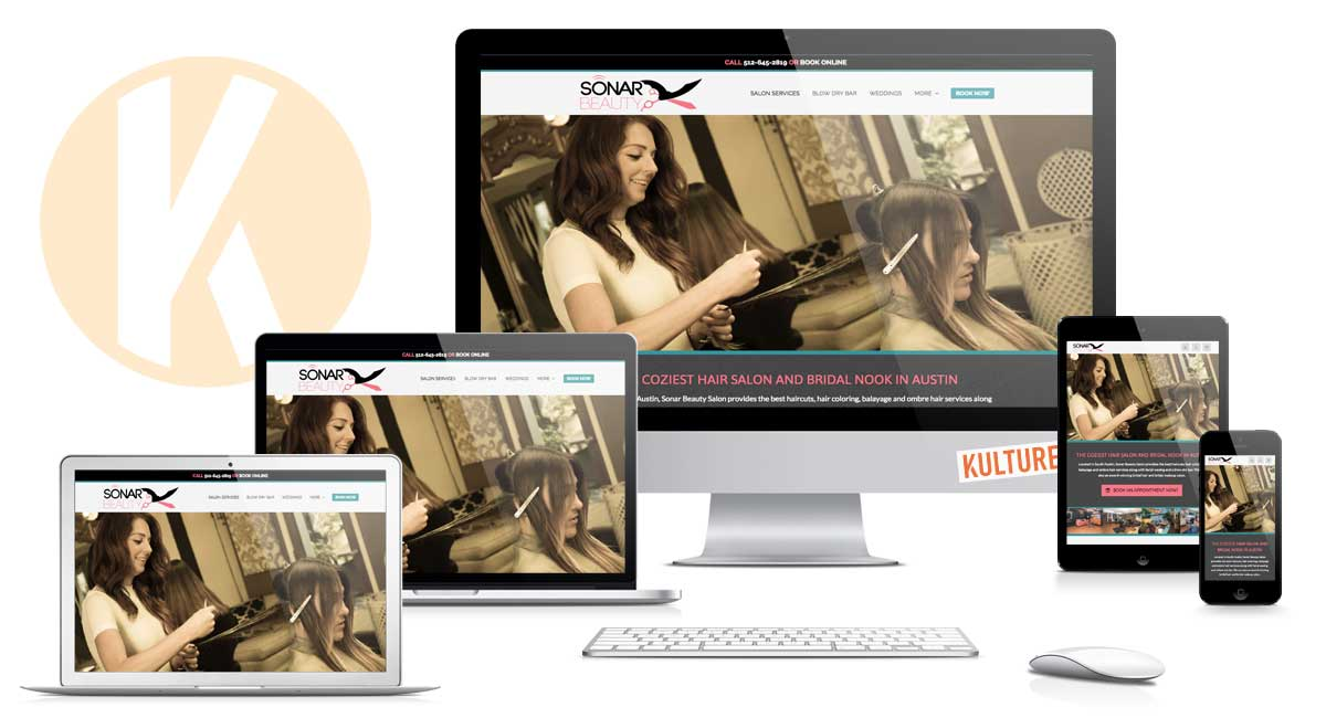 Sonar Beauty Website Designed by Kulture Digital in Austin