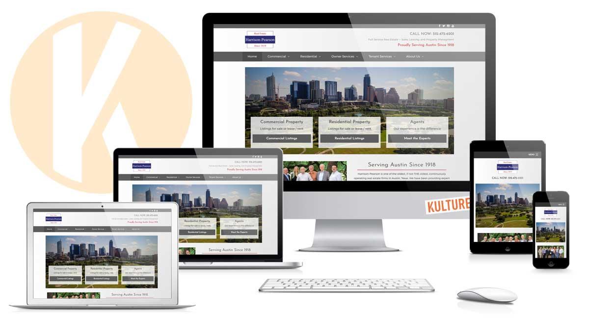 Harrison-Pearson Website Design by Kulture Digital in Austin Texas