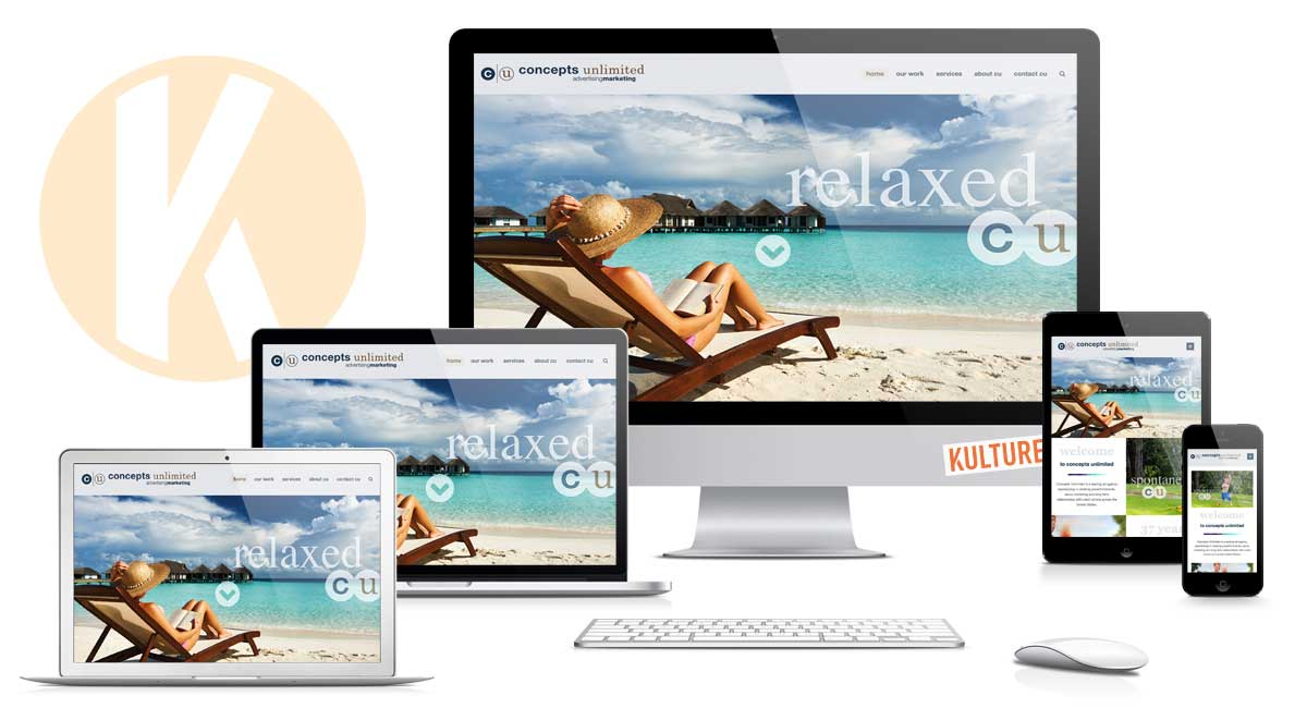 Concepts Unlimited Website (aka CU Advertising) by Kulture Digital in Austin Texas