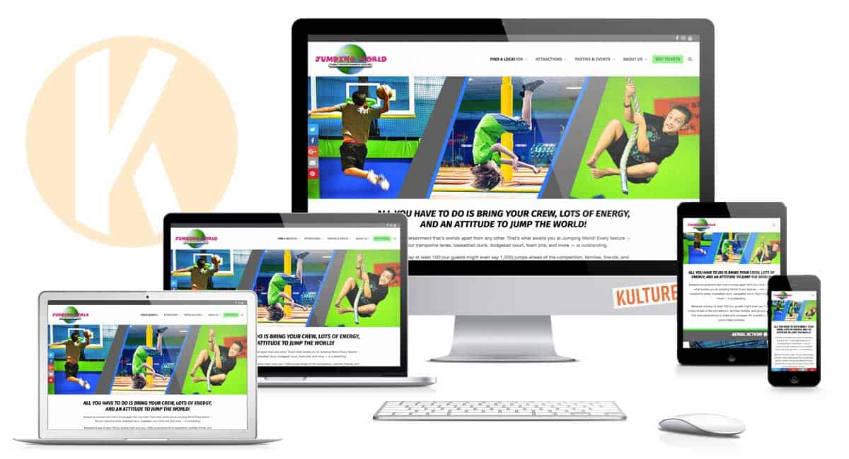Jumping World Website by Kulture Digital in Austin