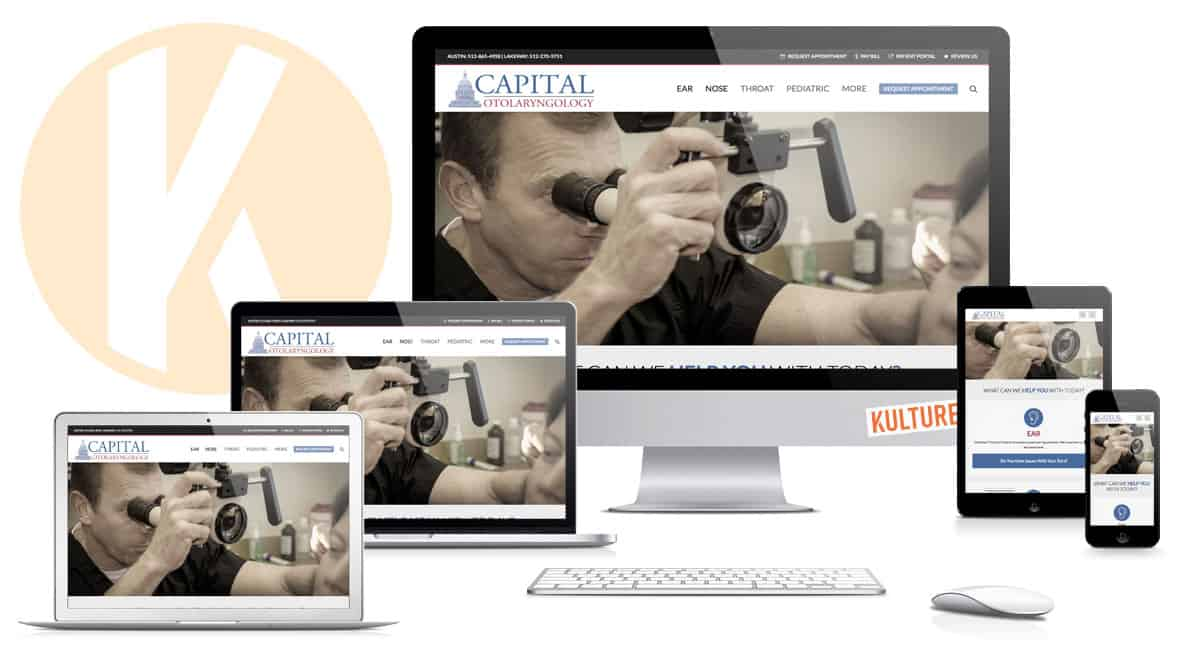 Capital Otolaryngology Website Designed by Kulture Digital in Austin