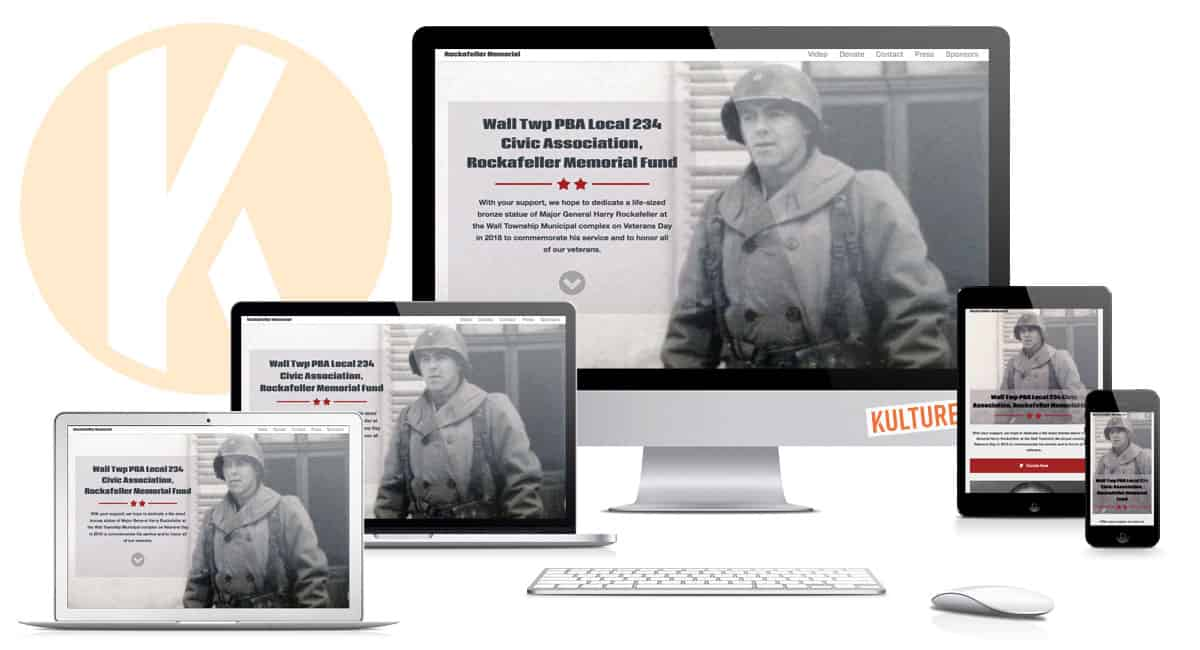 Rockafeller Memorial Website Designed by Kulture Digital in Austin