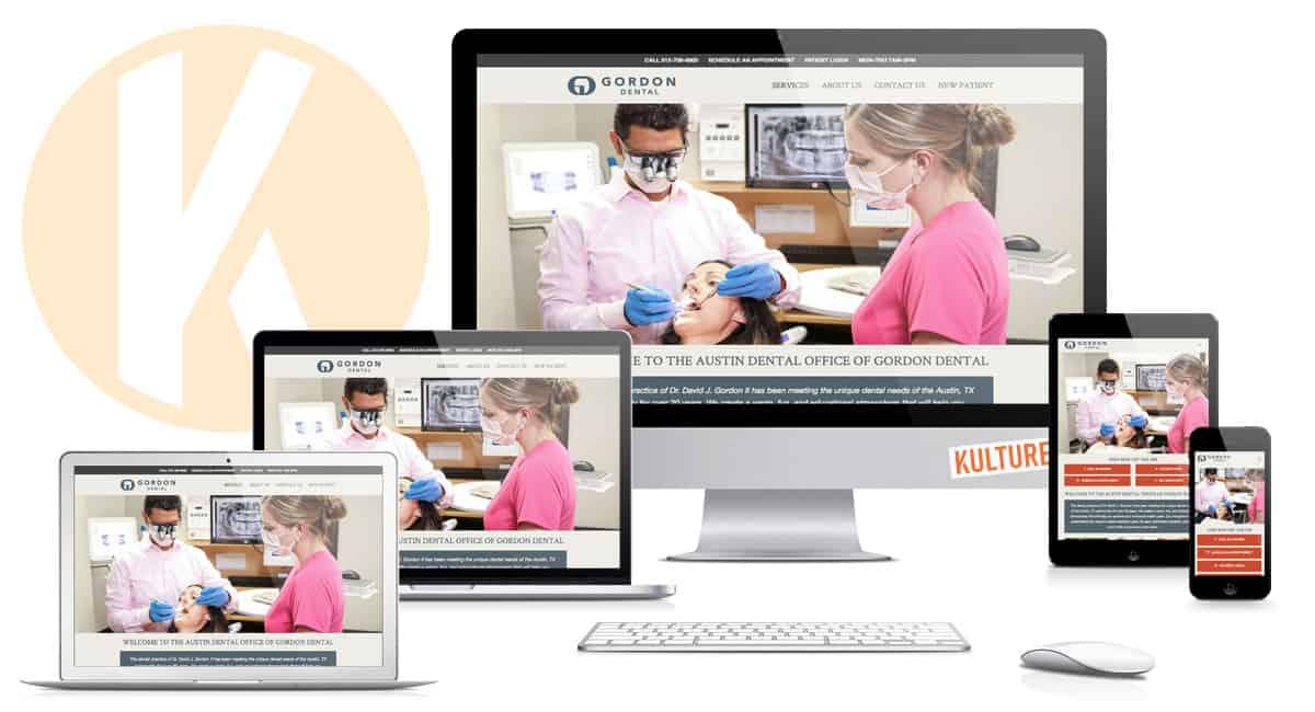 Gordon Dental Website Design by Kulture Digital in Austin, TX