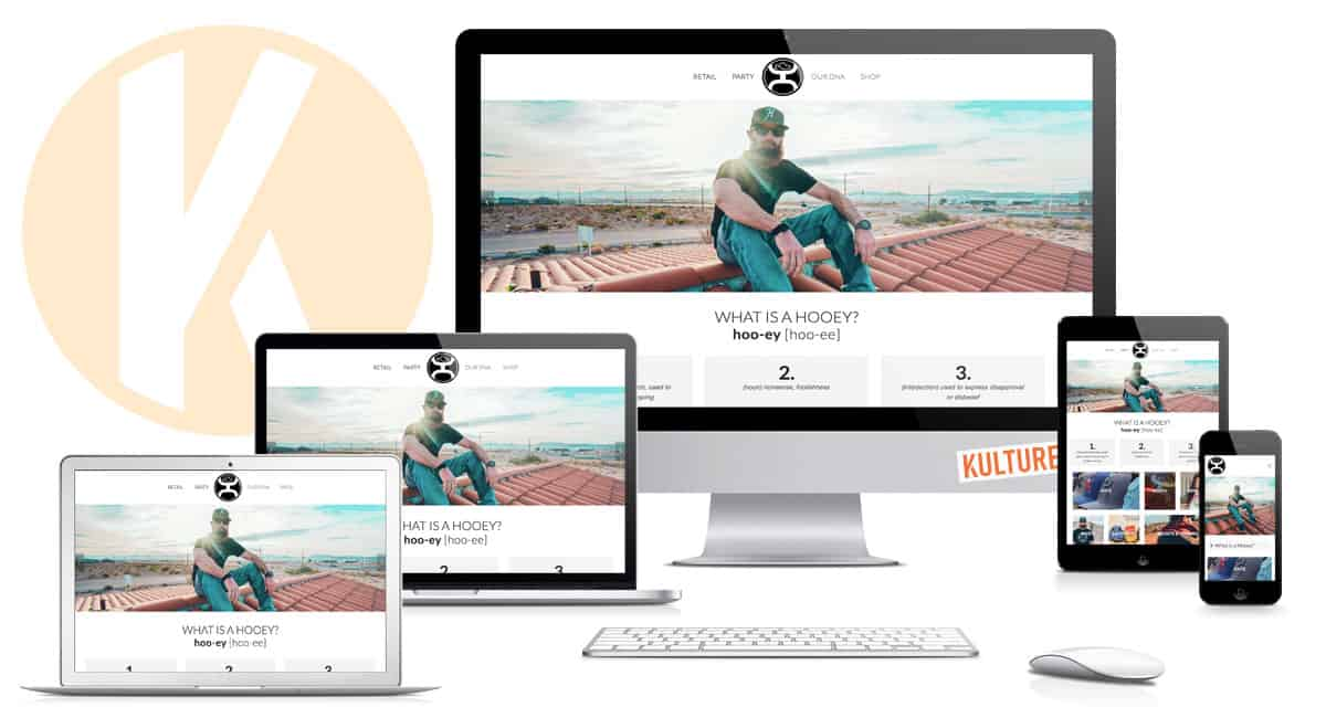Hooey Brands Website Designed by Kulture Digital in Austin, TX